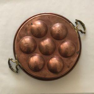 Antique Copper Fruit Mold